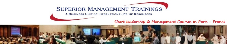 Short Leadership & Management Training Courses in Paris France